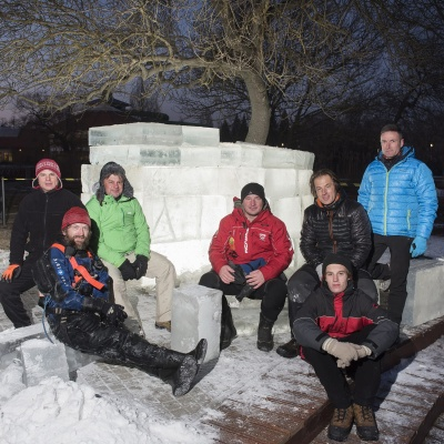 Az első jégkunyhó Sóstón!